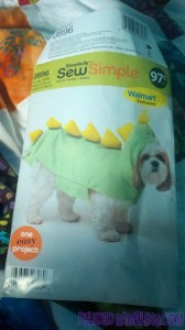 The pattern my mom found for dogs. That's really cute and all, but my dog weighs 119 pounds more than you.