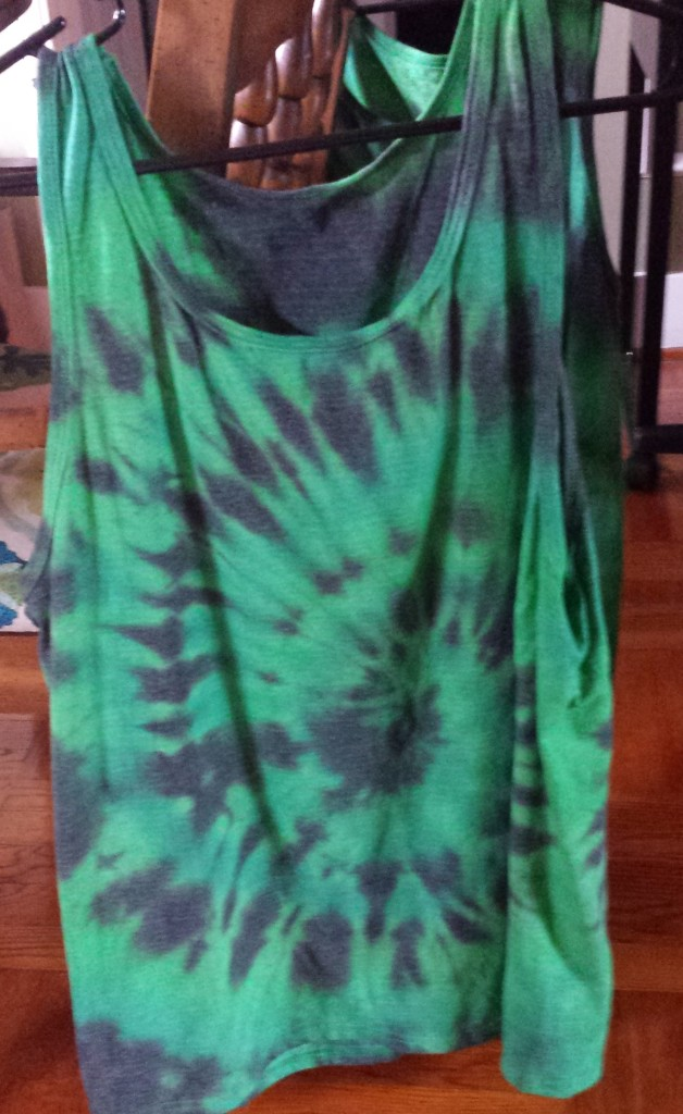 finished tie dye shirt