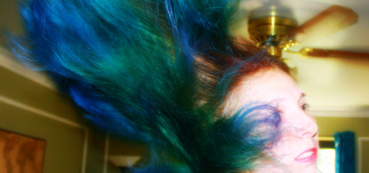 how to dye hair blue with ombre splat dye