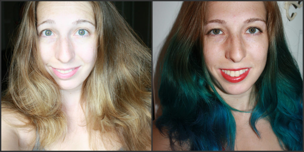 how to dye hair blue