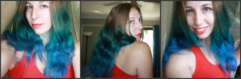 splat ombre blue hair kit