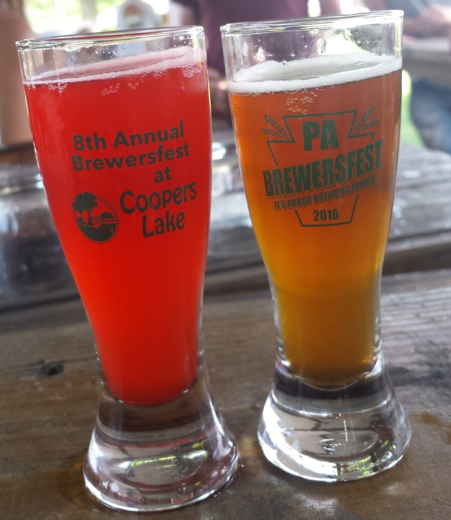 Drinking Brews at the 2016 PA BrewersFest Food