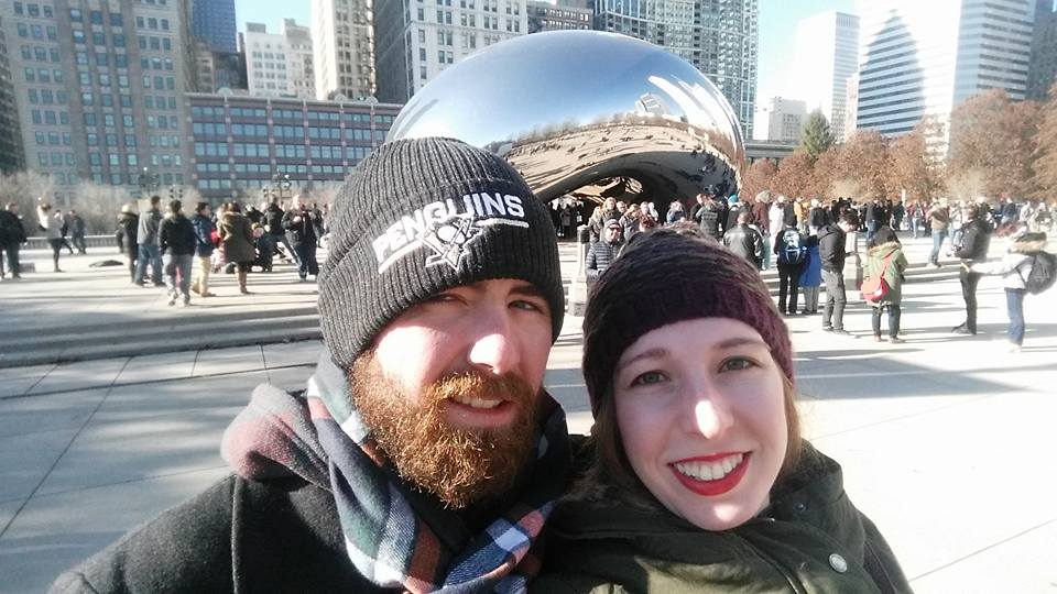 drew and i on our chicago weekend bean